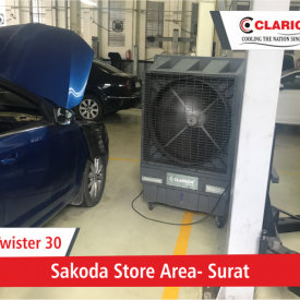 Twister 30 Cooler in Car Showroom